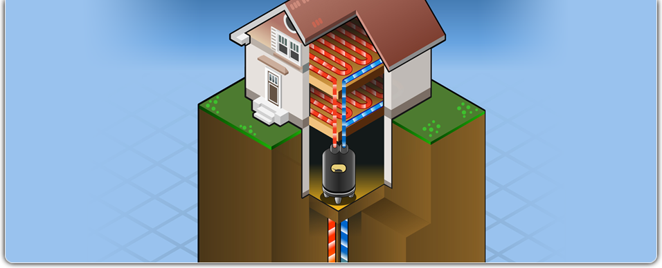 Installation of geothermal heating systems by Hyre Well and Pump Service LLC in Rock Cave, WV.